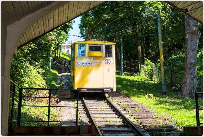 Kaunas specialties include two funiculars