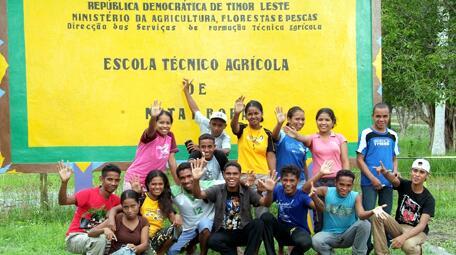 Pupils at the Natabora agricultural school Timor-Leste