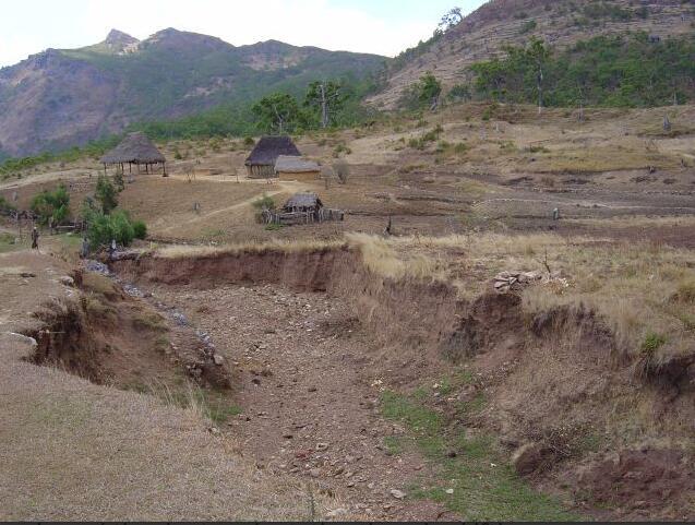 Timor-Leste Deforestation and erosion in Letefoho