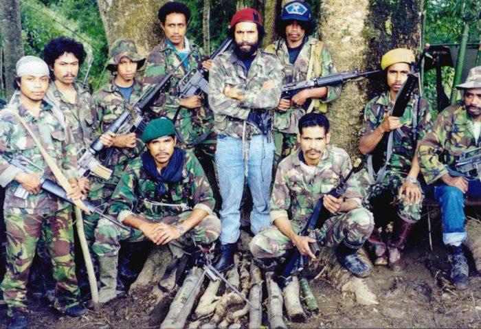 Timor-Leste Falintil with Commander Taur Matan Ruak