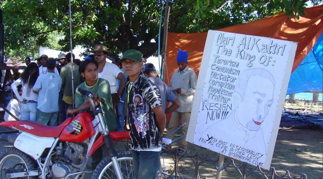 Timor-Leste Protest against Mari Alkatiri June 2006