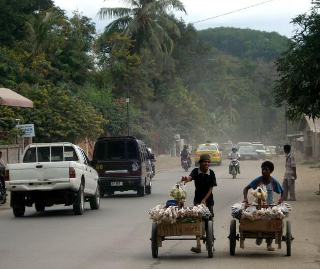 Young street vendors in Dili Timor-Leste